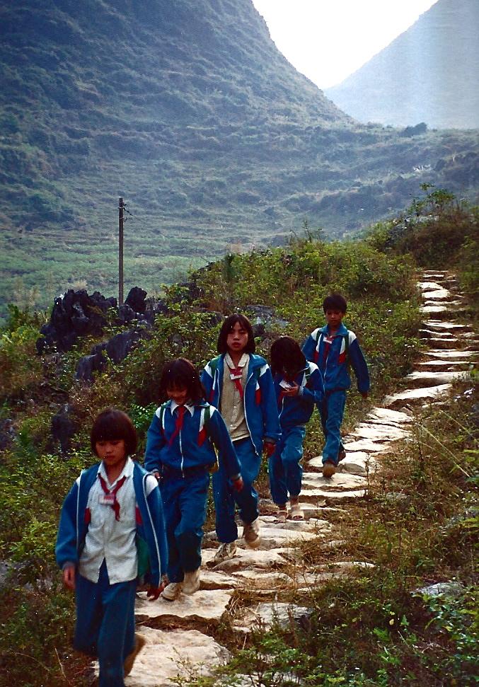 Walking to School takes two to three days
