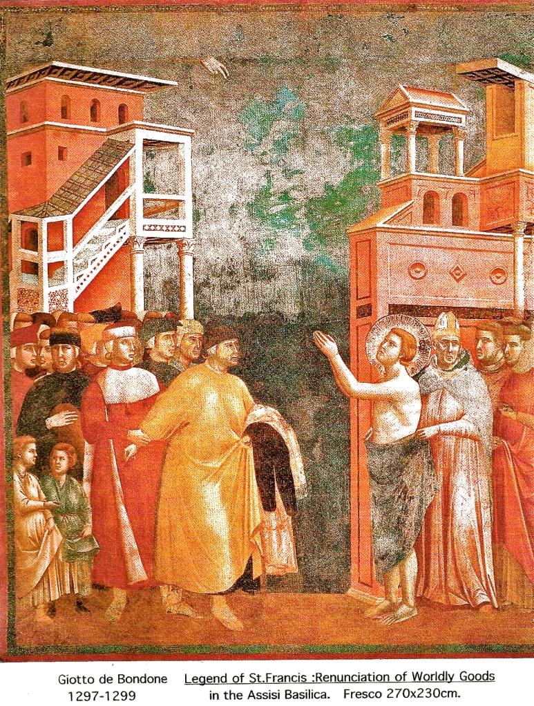 Giotto de Bondone 1297 - 1299 'Renunciation of Worldly Goods'