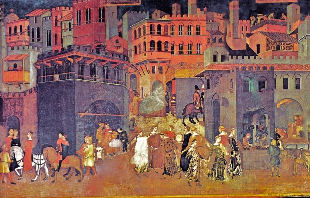 Allegory of the Good and Bad government and its Effects on the City and the Countryside.By Ambrogio Lorenzetti 1337