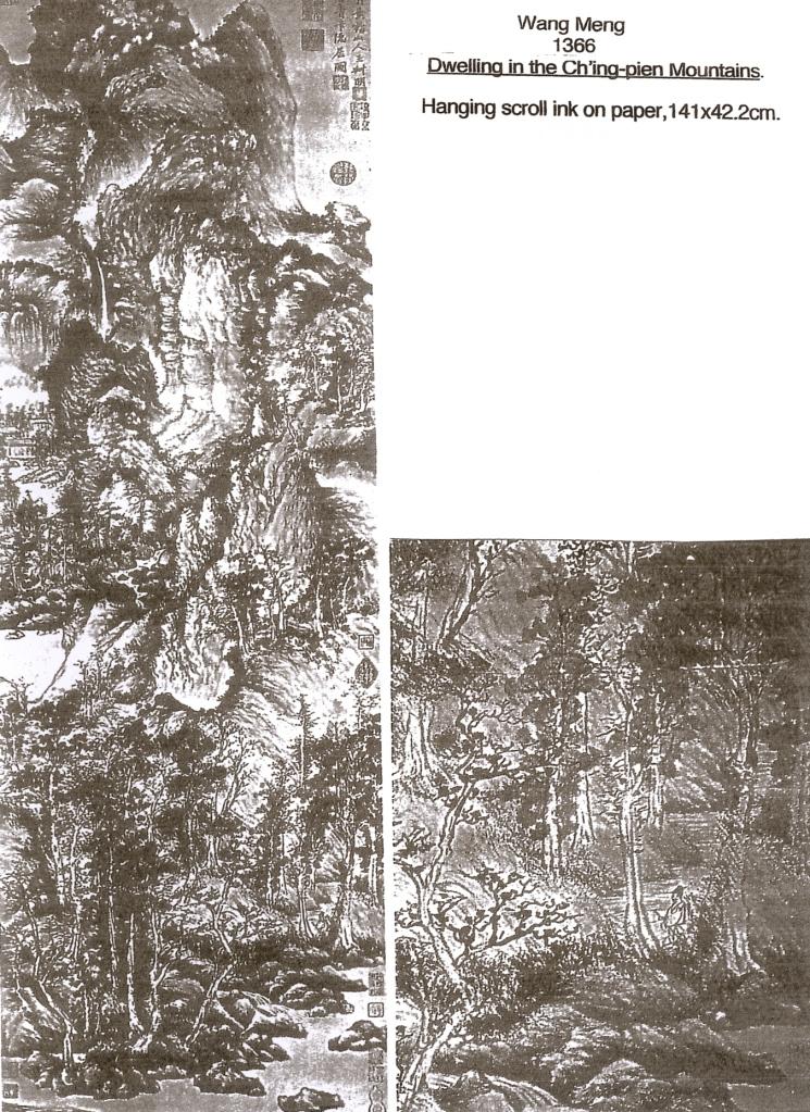 Wang Meng 1366 'Dwelling in the Ch'ing-pien Mountains'