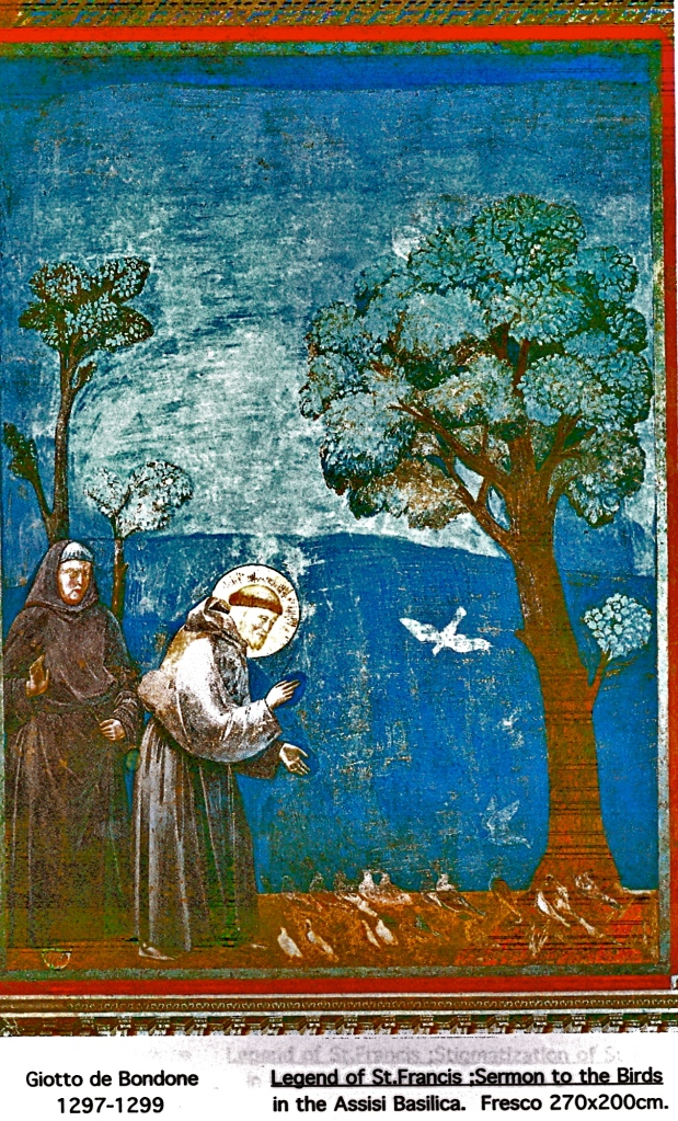 Giotto de Bondone 1297-1299 St FrancisSermon to the Birds