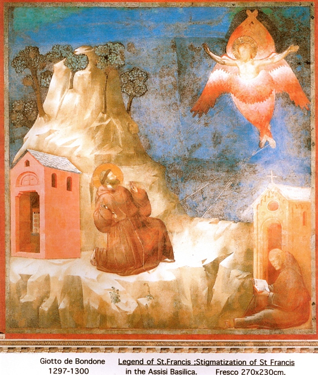 Giotto de Bondone 1297-1300 Stigmatization of St Francis